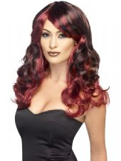 Ombre Wig In Red & Black